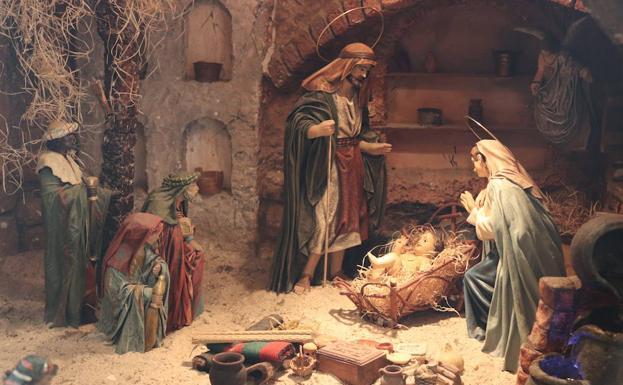 Nacimiento de Jesús en el Belén de Transmisiones/CLR