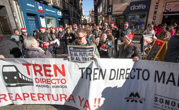 Las concentraciones semanales se han convertido en un pasacalles navideño en Aranda/EFE/Paco Santamaría