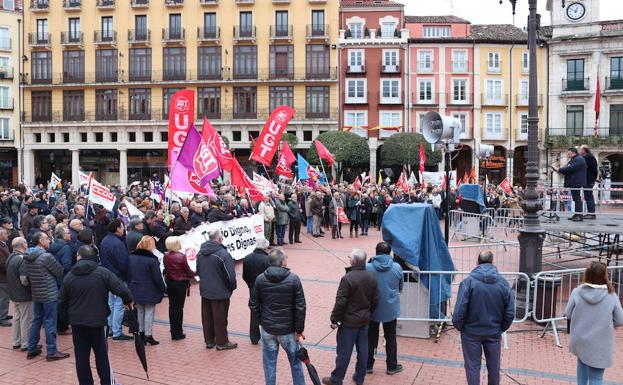 La manifestación ha concluid en la Plaza Mayor/PCR