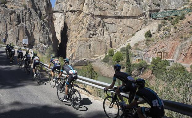 Imange de una etapa de la Vuelta a España. /Diario Sur