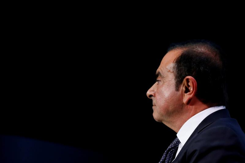 Carlos Ghosn durante el Paris Auto Show. /Reuters