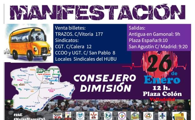 La plataforma de Burgos ya tiene organizados los autobuses