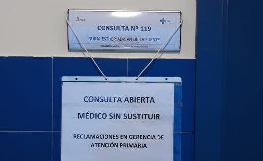 Imagen de la consulta de una de las doctoras de Los Cubos el pasado viernes/BC