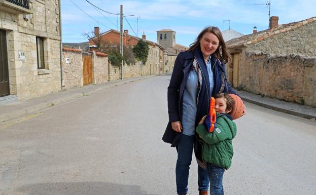 Emma y su hijo.
