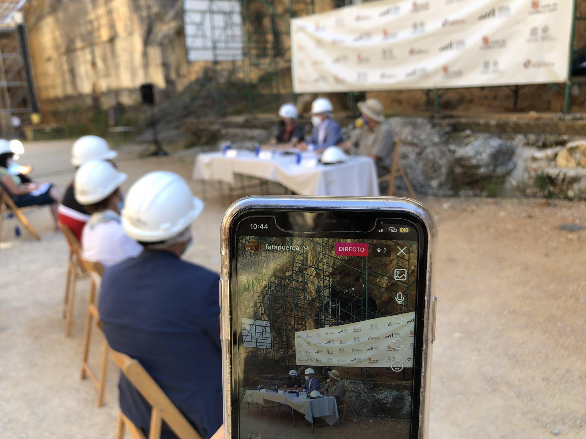 Presentación de la campaña de excavación en Atapuerca.